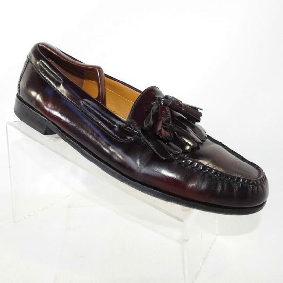 Cole Haan Sz 2 Burgundy Tassel Loafers